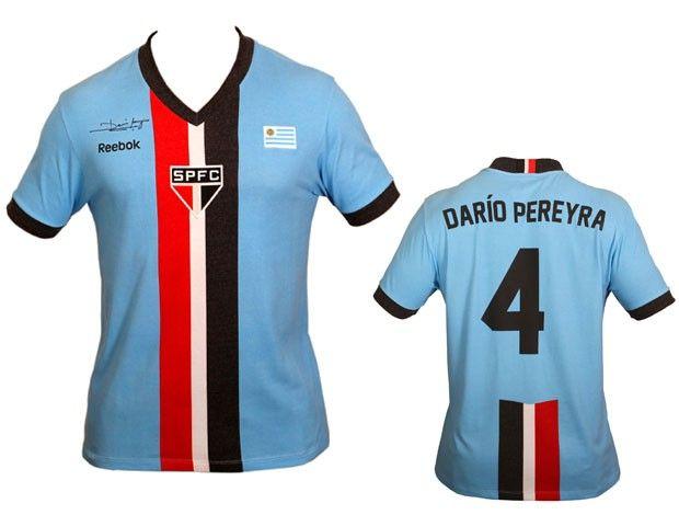 Camisa em homenagens aos grandes jogadores uruguaios que jogaram no São  Paulo 4835a4535a448