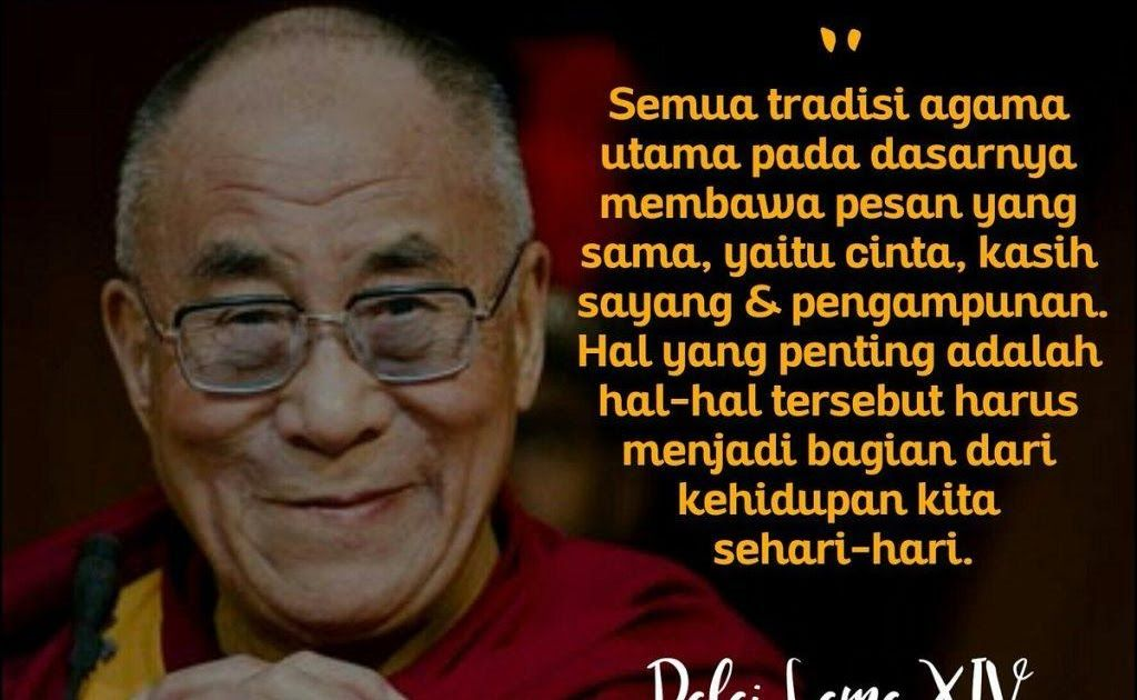 Gambar Kata Mutiara Dalai Lama Di 2020 Dalai Lama Bijak Gambar