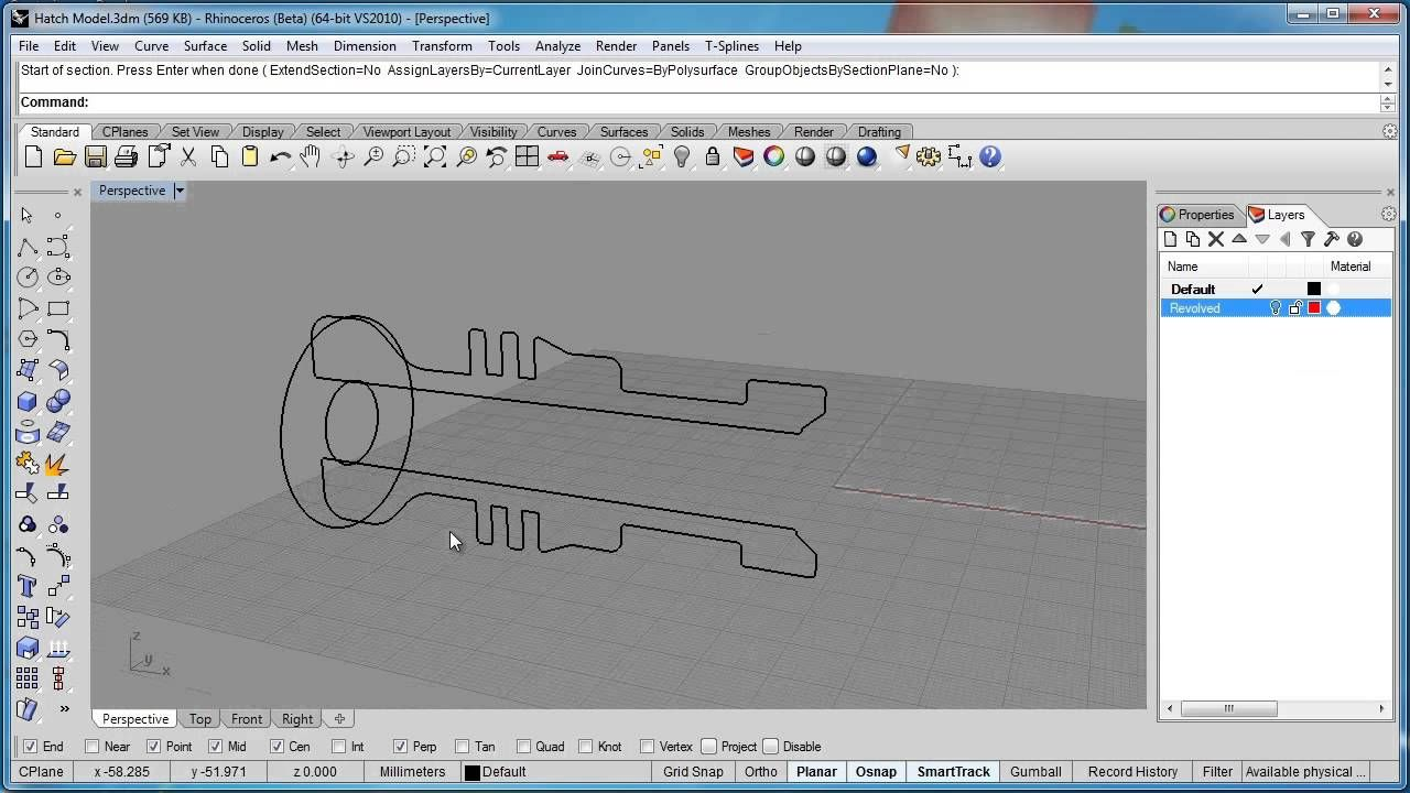 Advanced Rhino 5 Tutorial   Creating Hatch Drawings Hatch Drawing, Rhino  Tutorial, Rhinoceros,
