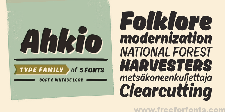 Ahkio Font Free Download | Free For Fonts | typo