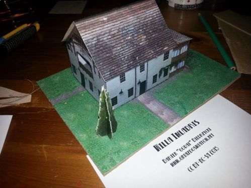 Villa Imladris for Diorama Free Building Paper Model Download Villa Imladris for Diorama for Diorama, created by Bartek Biedrzycki, and the scale is in 1:122.