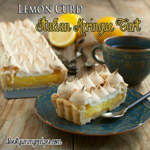 Lemon Curd Meringue Tart