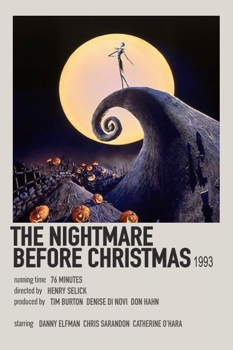 The Nightmare Before Christmas Polaroid Movie Poster In 2020 Film Posters Minimalist Movie Poster Wall Iconic Movie Posters