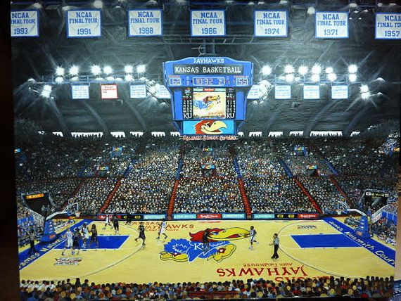 Ku Basketball University Of Kansas Jayhawks Limited Edition Etsy Basketball Pictures Sports Pictures University Of Kansas