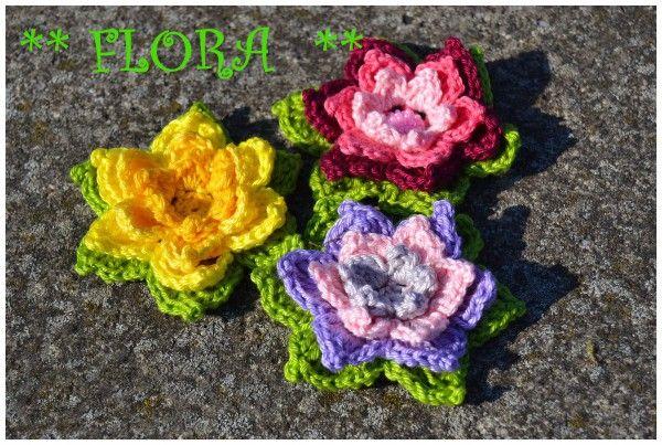 Blume häkeln // 3D Blume häkeln // Wollreste | # Flowers2 ...