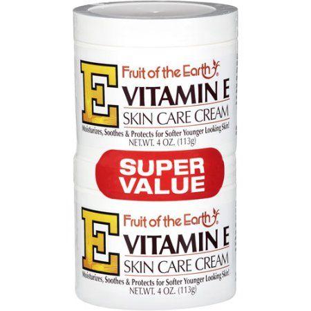 Fruit Of The Earth Vitamin E Skin Care Cream Super Value 4 Oz 2 Pack Walmart Com Skin Care Cream Moisturizing Skin Cream Skin Care