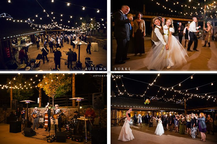 Spruce Mountain Ranch Wedding Reception Dancing Bouquet Band Larkspur Colorado