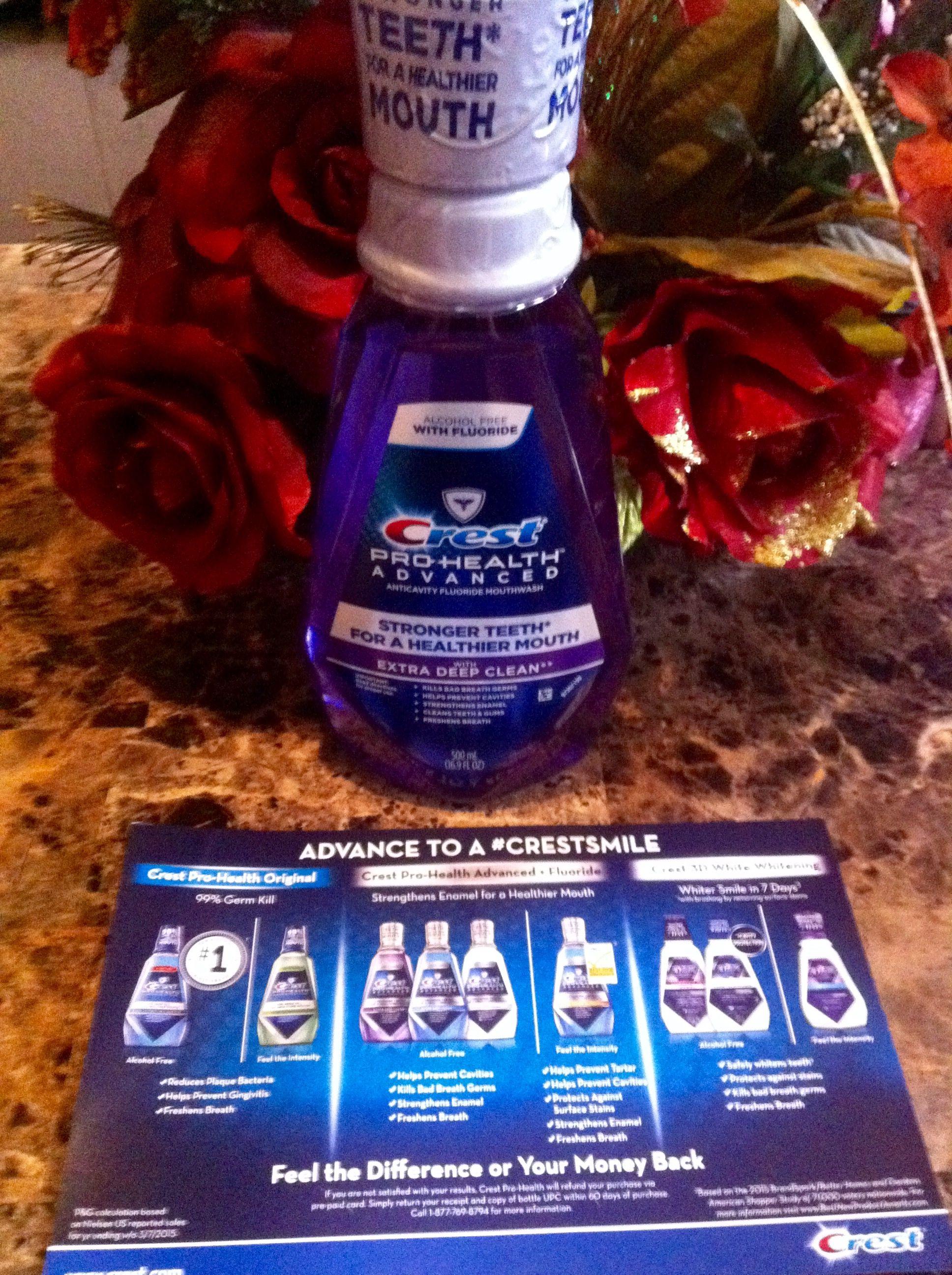 Crestprohealth mouthwash alcohol free bzzagent mission