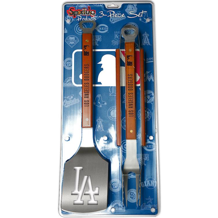 Los Angeles Dodgers 3 Piece Sportula 174 Bbq Tool Set Bbq