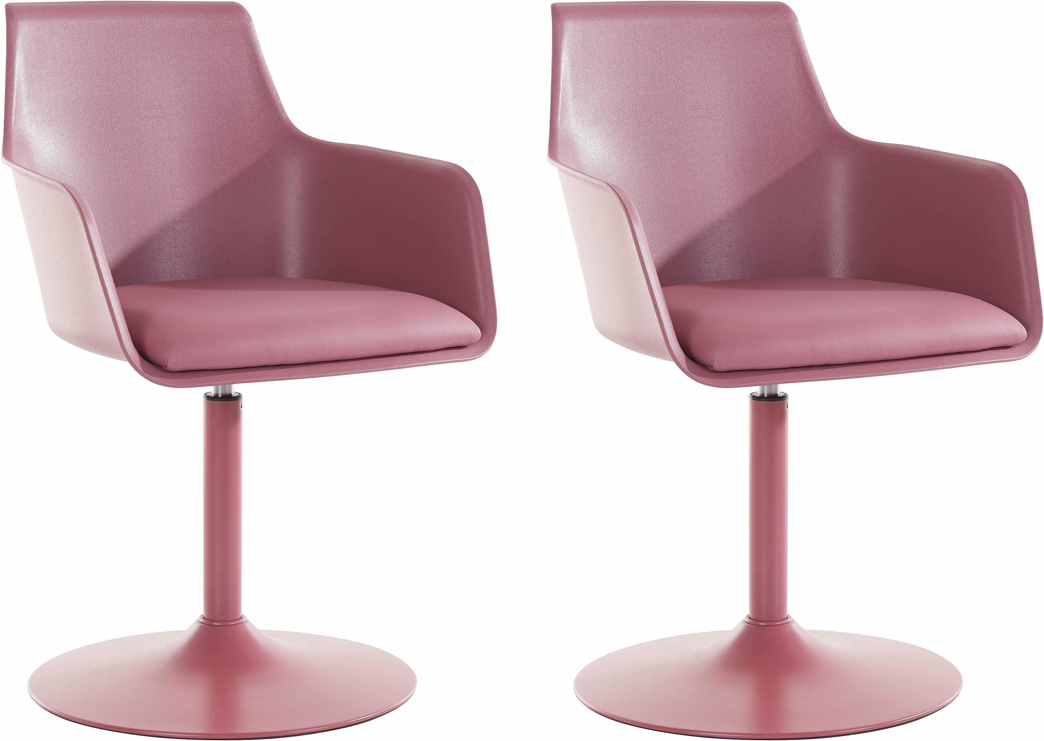 Stuhl rosa, pflegeleichtes Kunstleder, yourhome Jetzt bestellen ...
