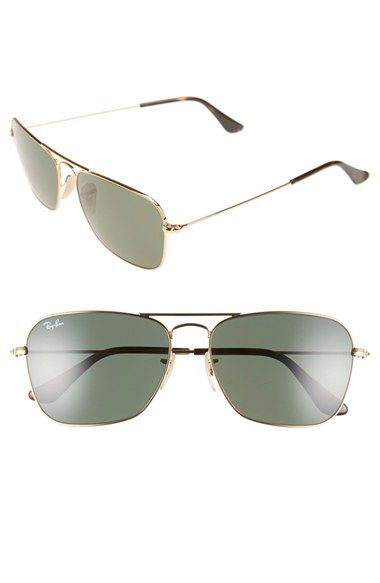 ffc20974047a Ray-Ban  Caravan  58mm Aviator Sunglasses available at  Nordstrom ...