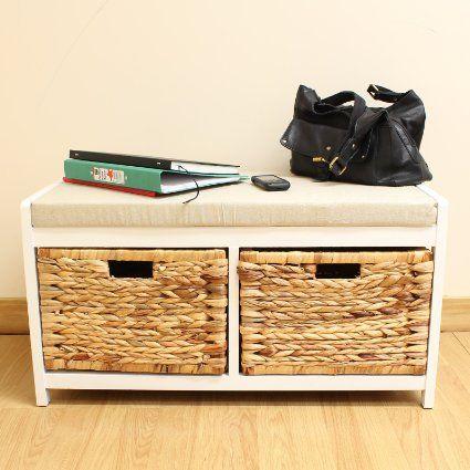 Amazing Hartleys Bench Cushion Seat Seagrass Wicker Storage Baskets Uwap Interior Chair Design Uwaporg