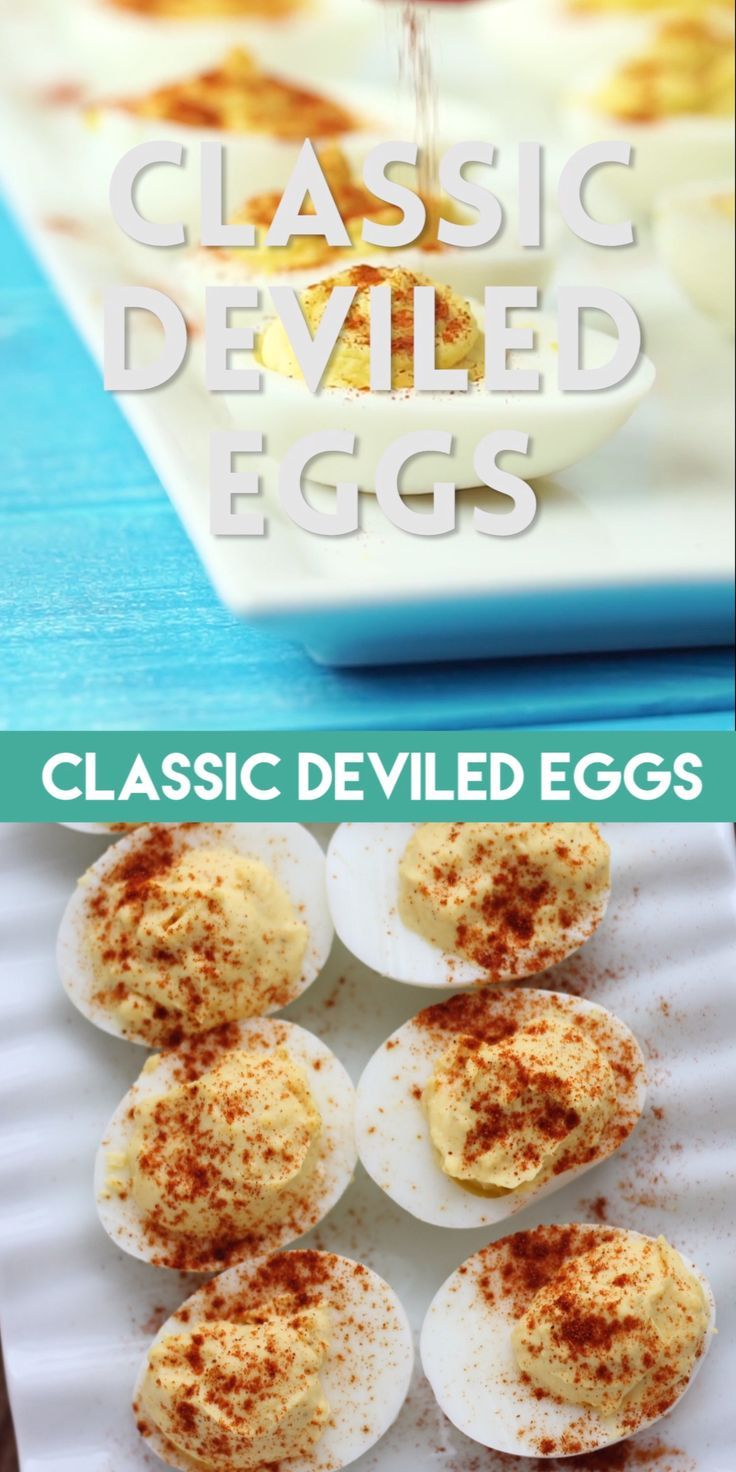 Classic Deviled Eggs (+ Video) | Dessert Now, Dinner Later!