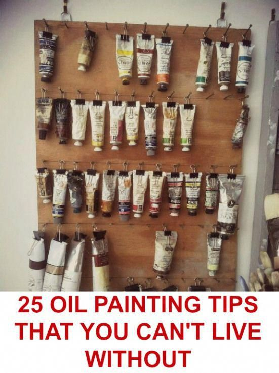 25 Oil Painting Tips that You Can't Live Without is part of Oil painting tips, Paint storage, Art room, Art storage, Craft room, Crafts - By Nicole Tinkham We're always looking for EASIER (as well as faster, cleaner, cooler, smarter, etc ) ways of accomplishing just about any type of task  No matter what the subject, we're compelled …