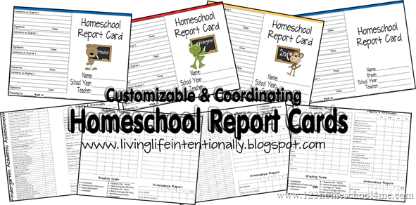 Free Printable Homeschool Report Cards For Preschool 6th Grade Various Choices On Front Back School Report Card Free Homeschool Homeschool