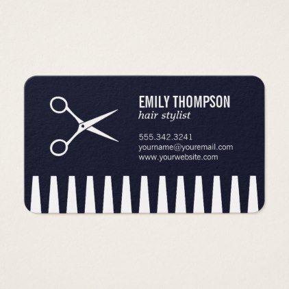 Comb and shear hair stylist business card colourmoves