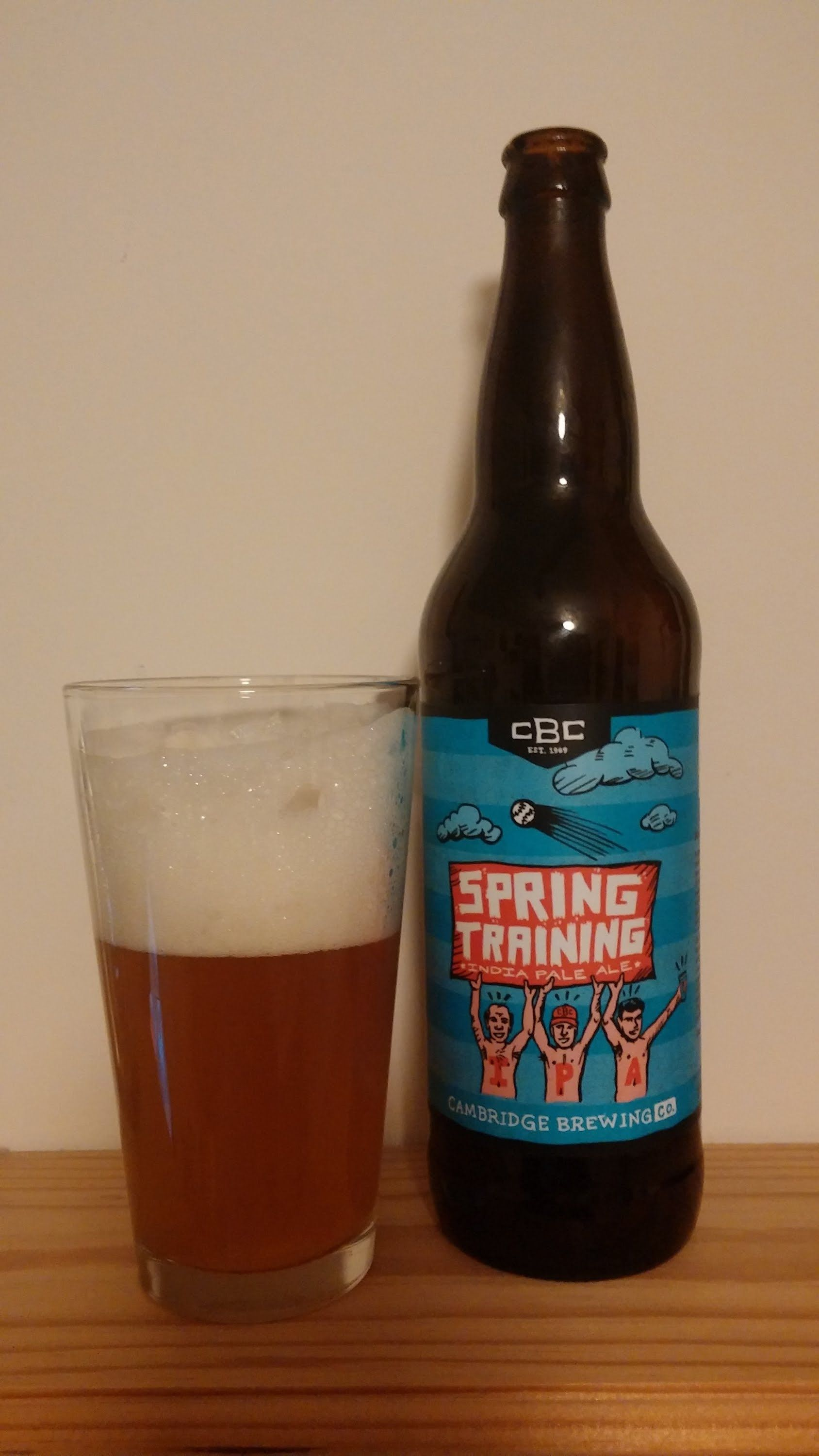 Beer Review #85 Cambridge Brewing Co  Spring Training IPA ( 6% ABV )