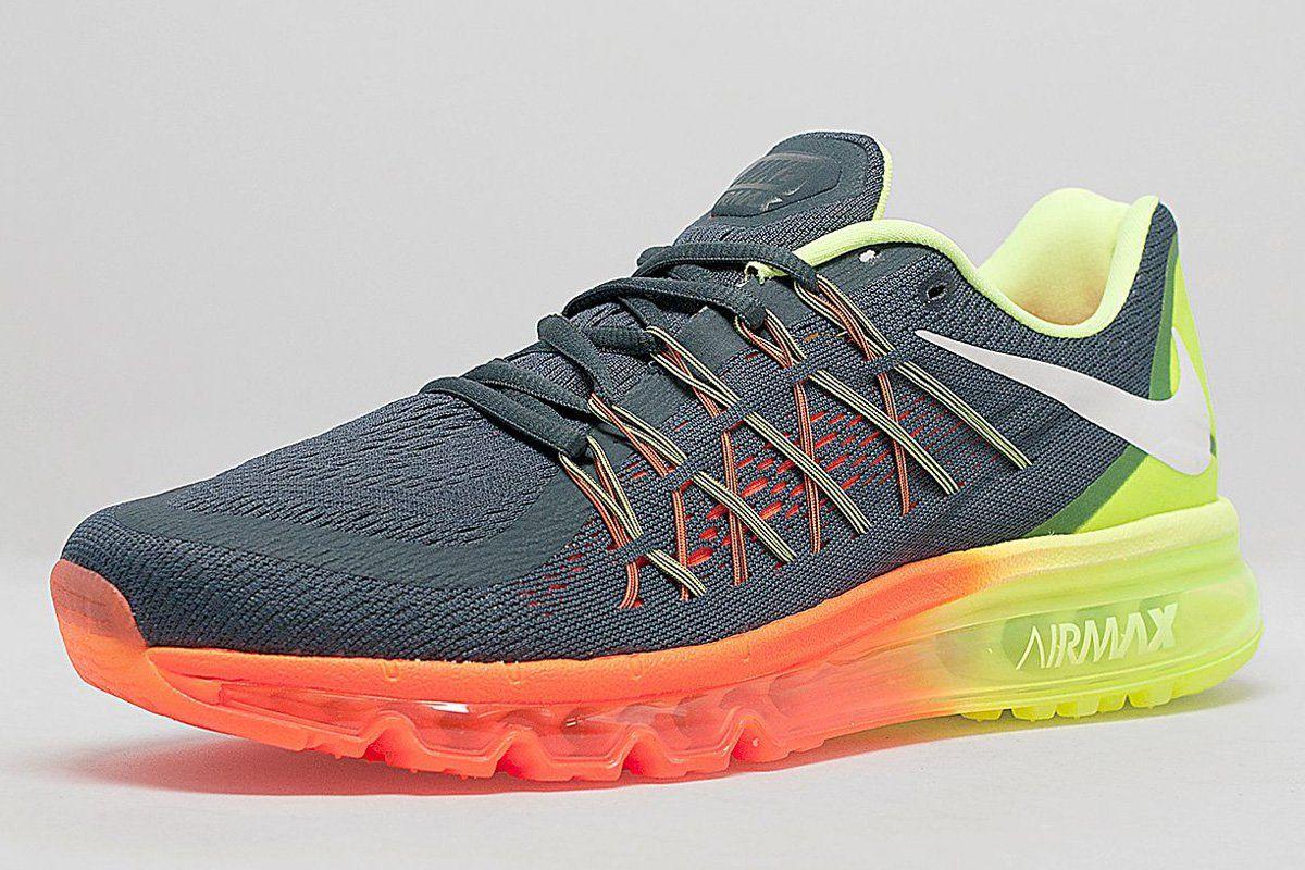 Nike Womens Air Max 2014o Black Anthracite Dark Grey Reflective Silver - Running Shoes