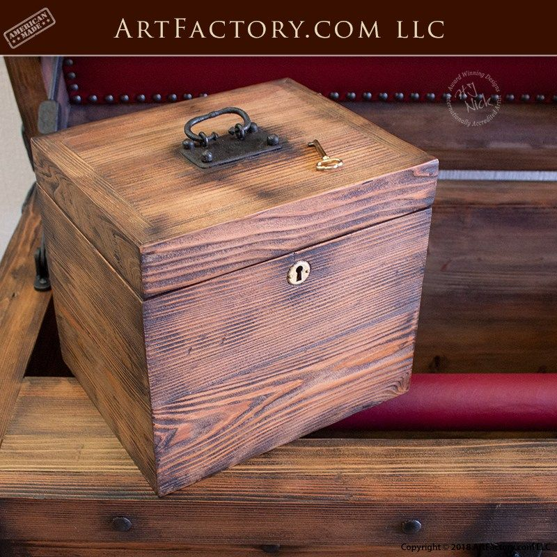 Strong Box Pirates Chest With Lock Box Hidden Compartment Storage Boxes Wood Art Projects Wooden