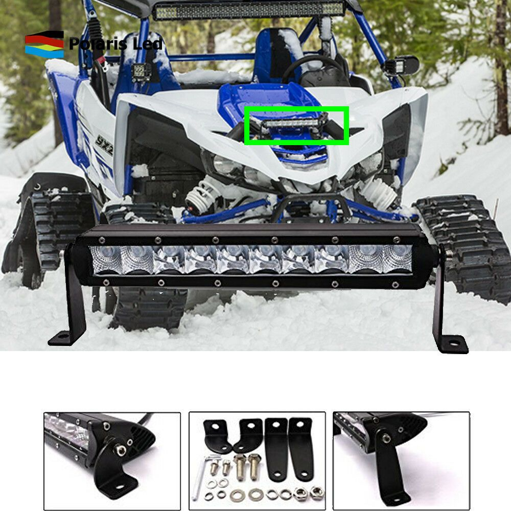 Sponsored Ebay Led Light Bar 10inch Front Fog Driving For Utv Off Road Yamaha Yxz1000r Slim Led Light Bars Bar Lighting Yamaha