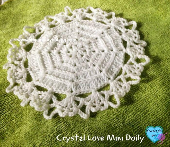 Crystal Love Mini Doily - free pattern | Atrapasueños y Mandalas ...