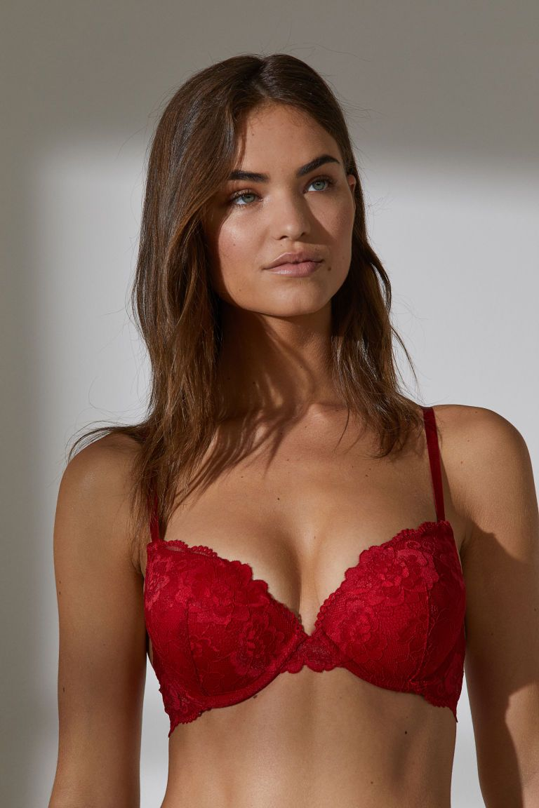 aad1bd4b26801 Super Push-up Lace Bra - Red - Ladies