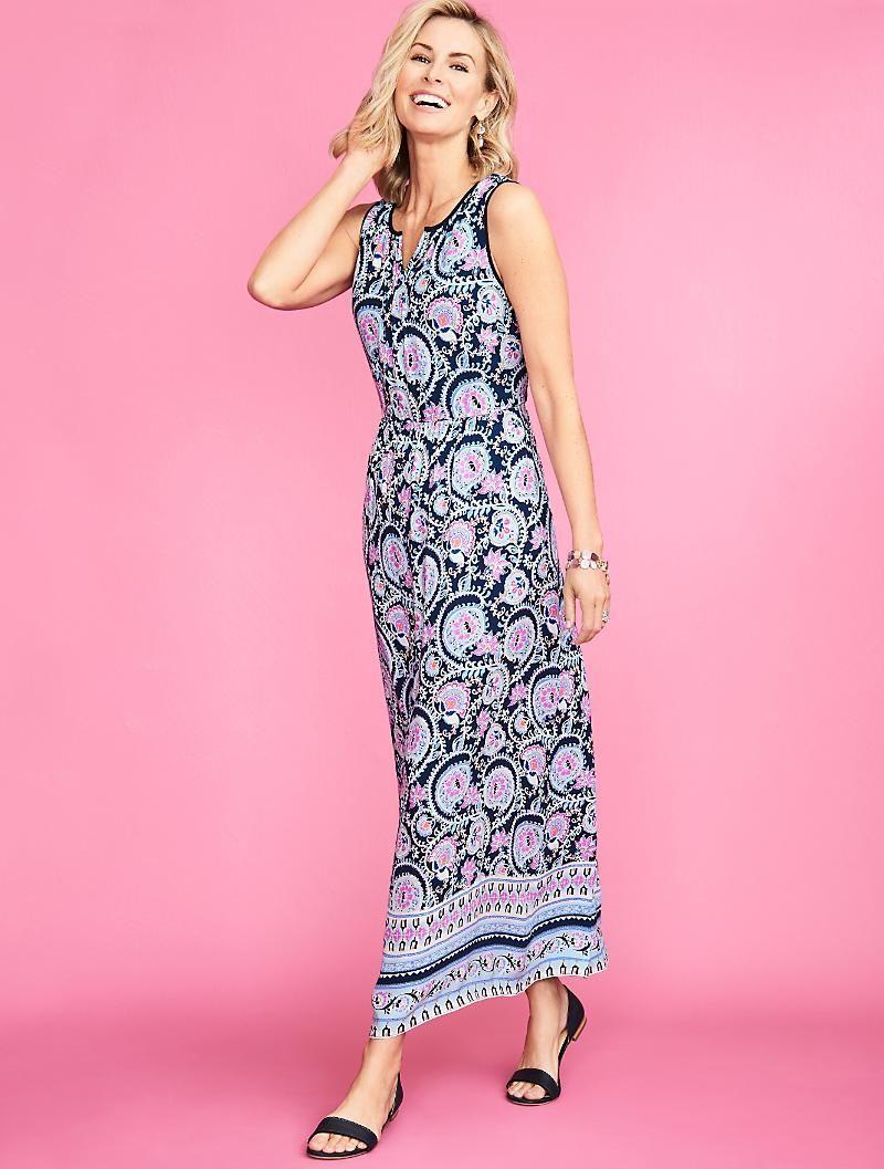 Paisley Flowers Maxi Dress Maxi Dress Dresses Clothes For Women [ 1057 x 800 Pixel ]