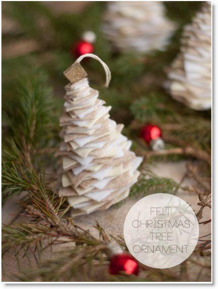 Felt Christmas Tree Ornament Tutorial
