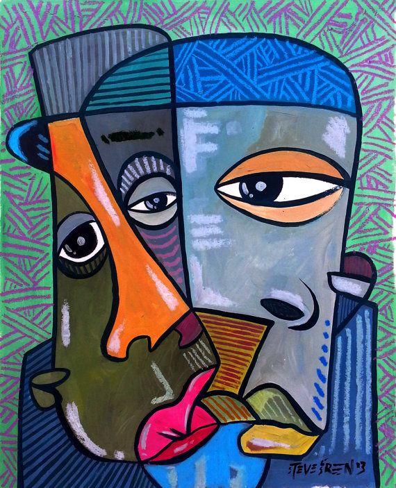Steve Green Original Modern Abstract African American By Badstudio