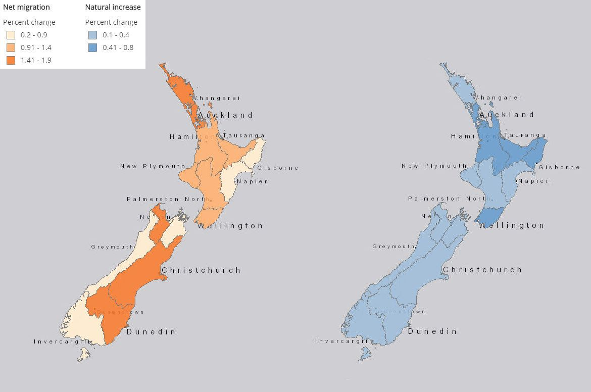 New Zealand Interactive Map.New Zealand Population Growth Migration New Zealand Population