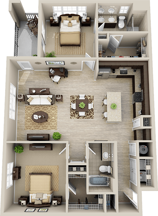 This Is A Good Small House Plan Walk In Closets And Laundry Needs My Custom 4 Bedroom Apartments In Maryland Concept Design