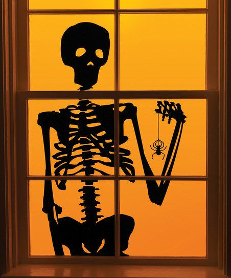 Skeleton Window Cling - Set of Two Decorating events Pinterest