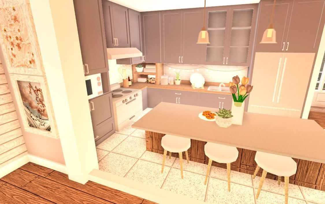 Small Aesthetic Kitchen Sims House Design Small House Design Tiny House Layout