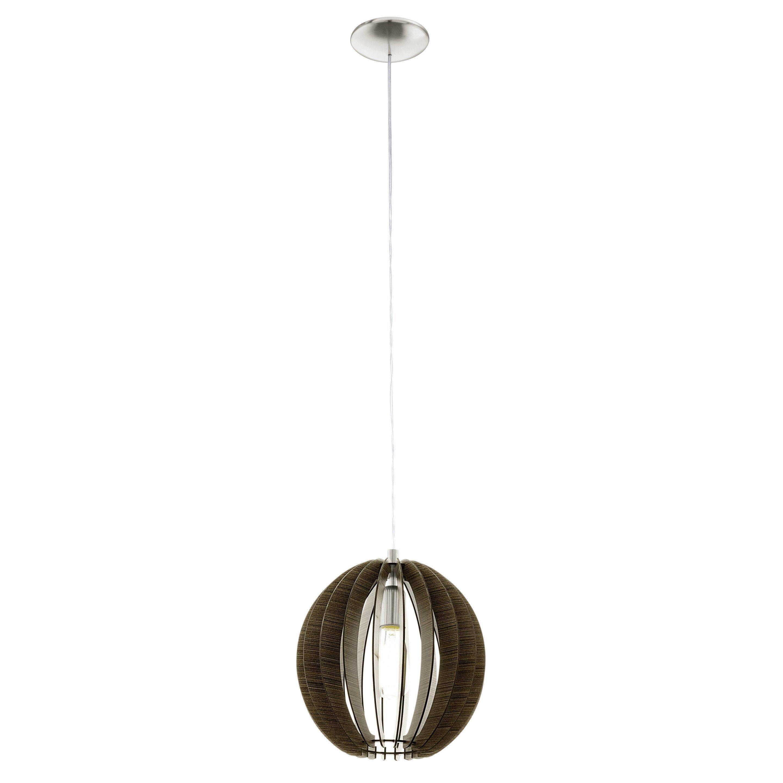 Suspension Contemporain Metal Marron Eglo Cossano 1 Lumiere S D 30 Cm En 2020 Suspension Luminaire Globes De Lumiere Et Contemporain