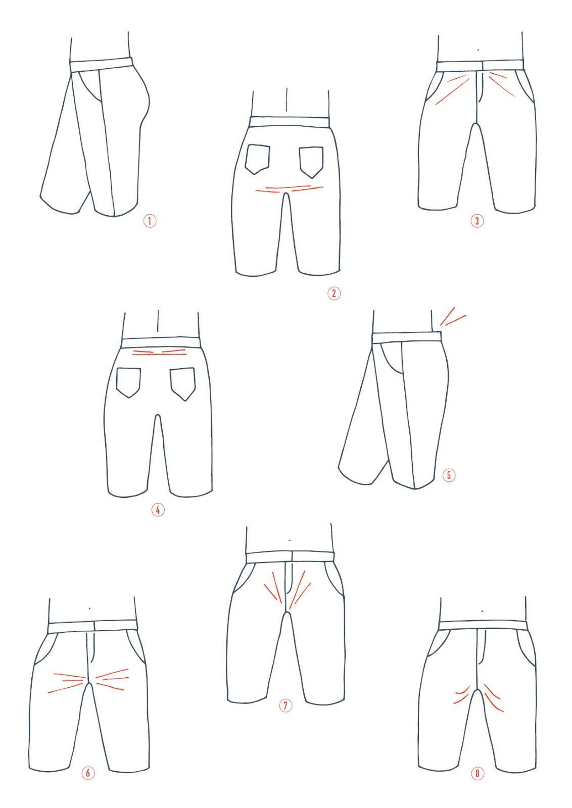lots of great tips for adjusting the crotch to fix pants-fitting ...