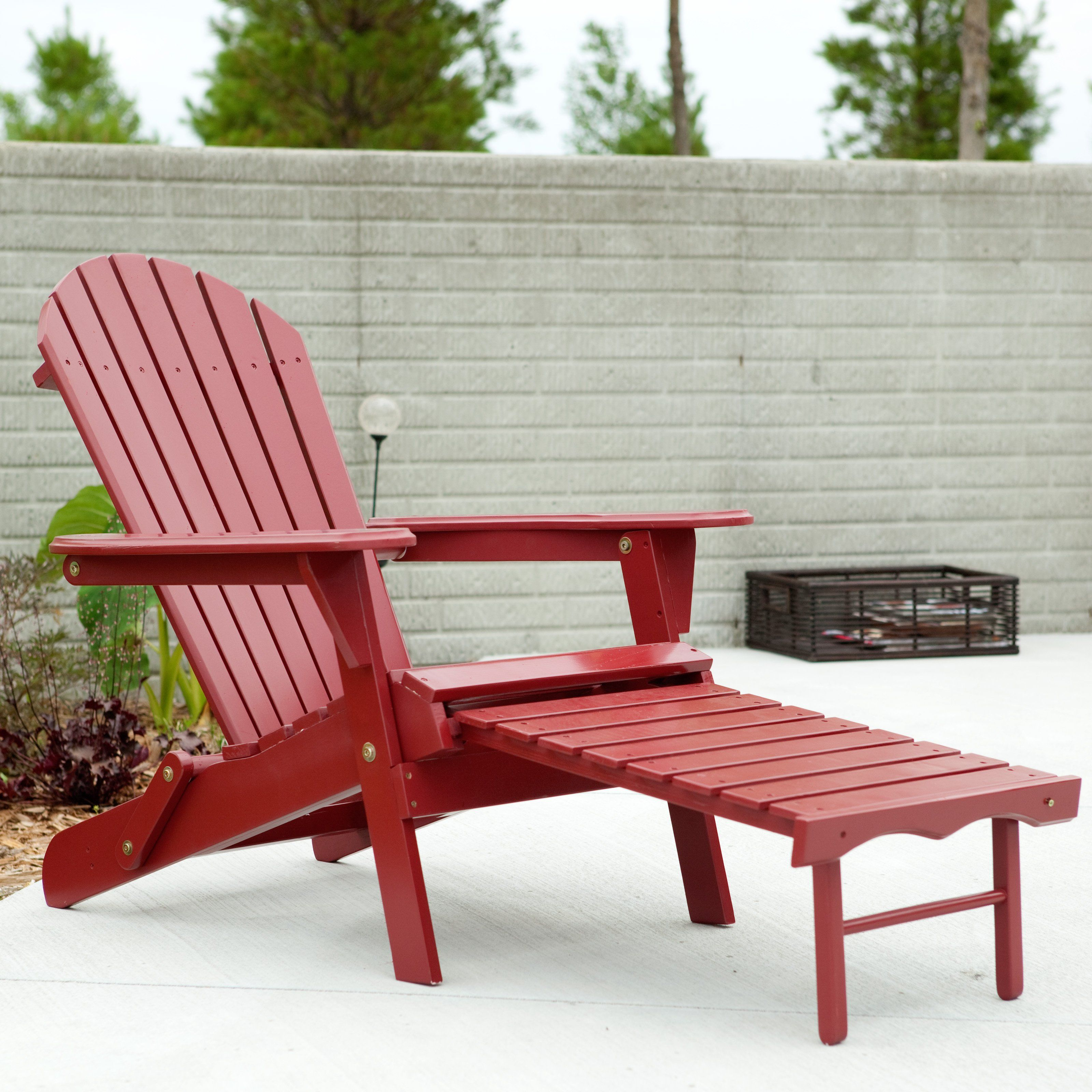 Patio Daddy O Furniture: Have To Have It. Big Daddy Adirondack Chair With Pull Out