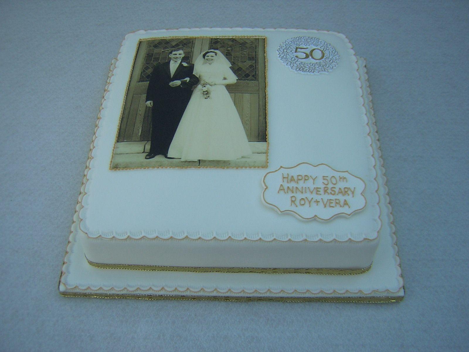 50th Anniversary Cupcake Decorations 50th Anniversary Cakes 50th Wedding Anniversary Cake In White