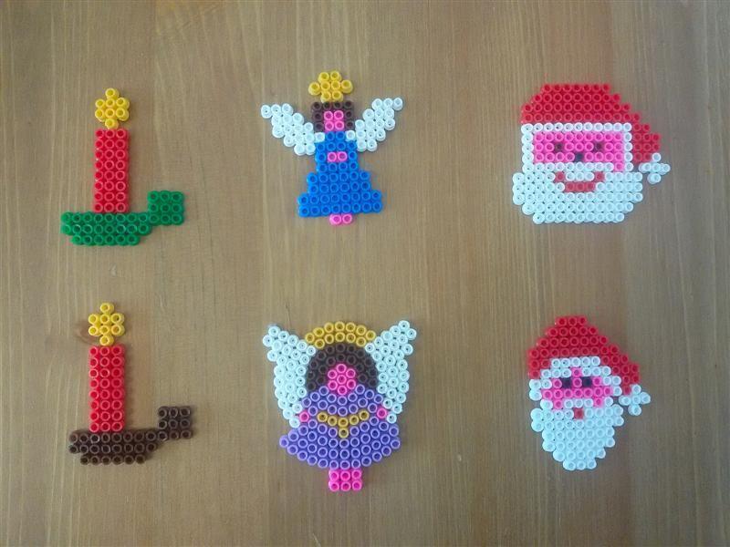Pyssla Natale.Pyssla Hama Beads Natale Christmas Fuse Beads Art Fai Da