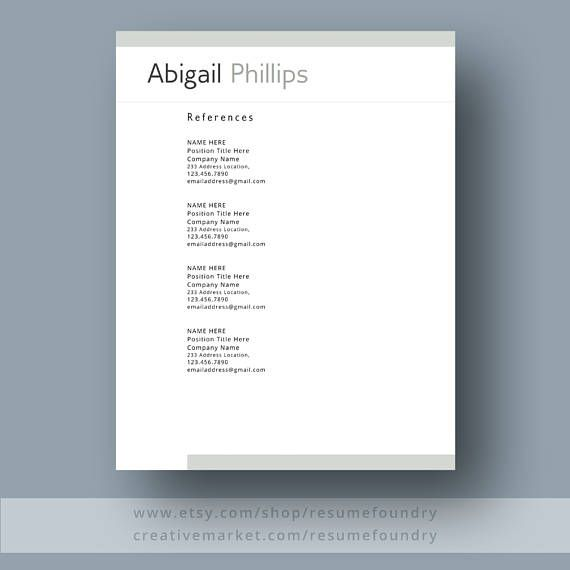 Professional Resume Template The Abigail  Modern Resume