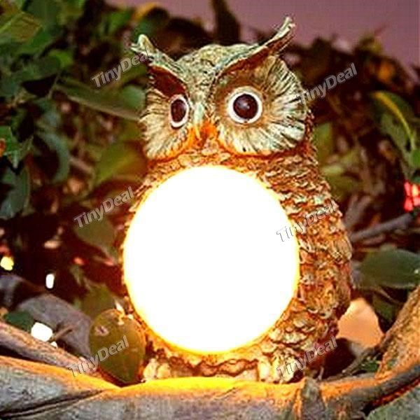 Owl Waterproof LED Solar Light Lamps Garden Lights Outdoor Landscape Wall  Lamps HLT 391907