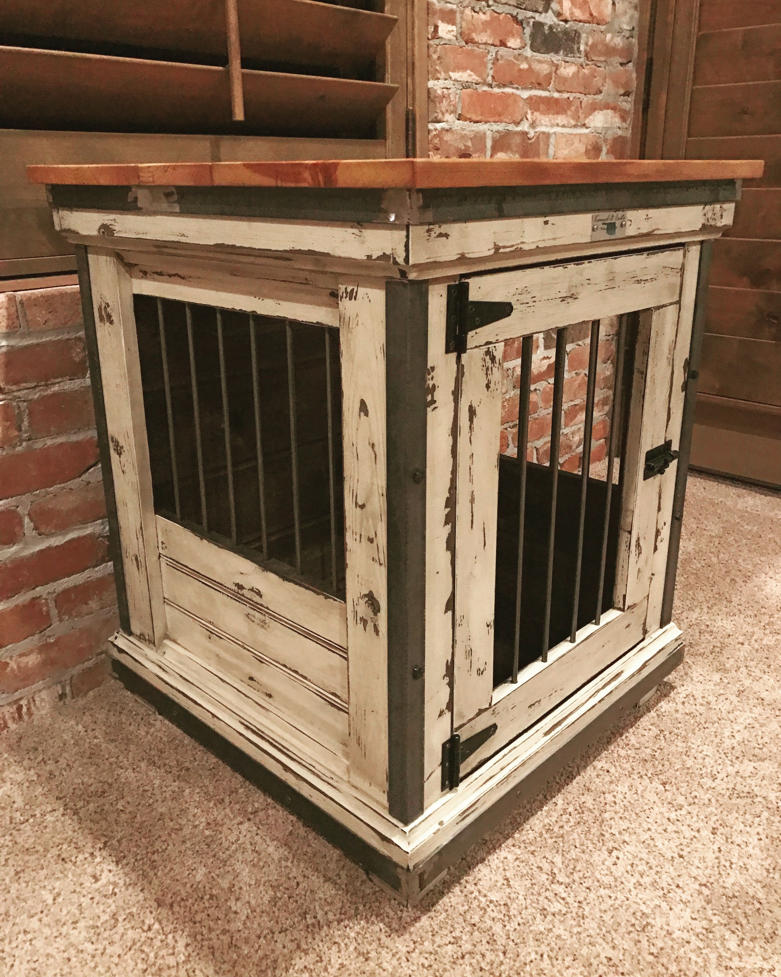Handcrafted dog kennel and dog crate. Custom dog kennel