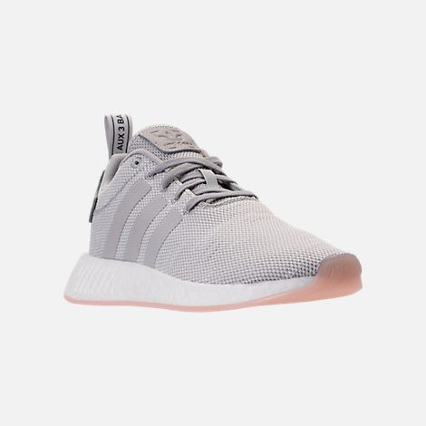 b60f655d952842 Three Quarter view of Women s adidas NMD R2 Casual Shoes in Grey  Two Crystal White