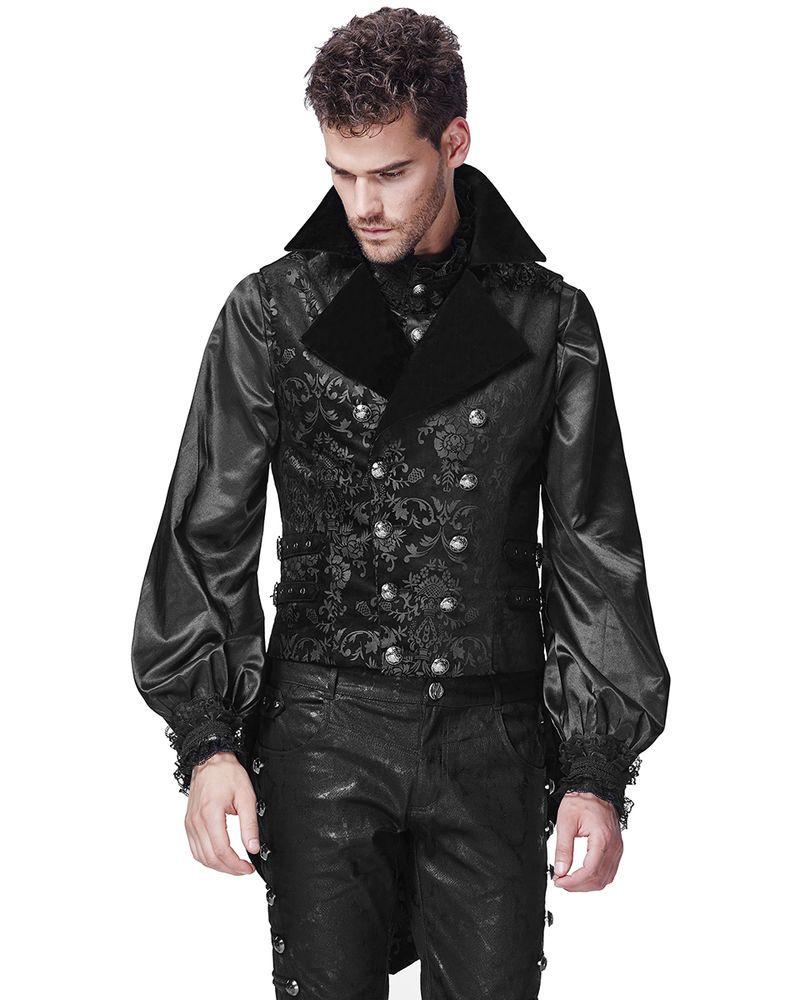 Punk Rave Mens Vest Waistcoat Tailcoat Black Velvet Gothic Steampunk  Victorian  PunkRave  OtherJackets ce03f34b56