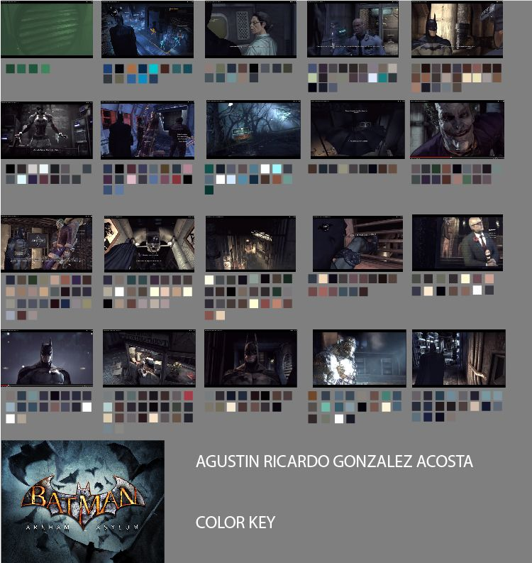 Color Key Batman Arkham Asylum Colour Scripts Pinterest - script storyboard