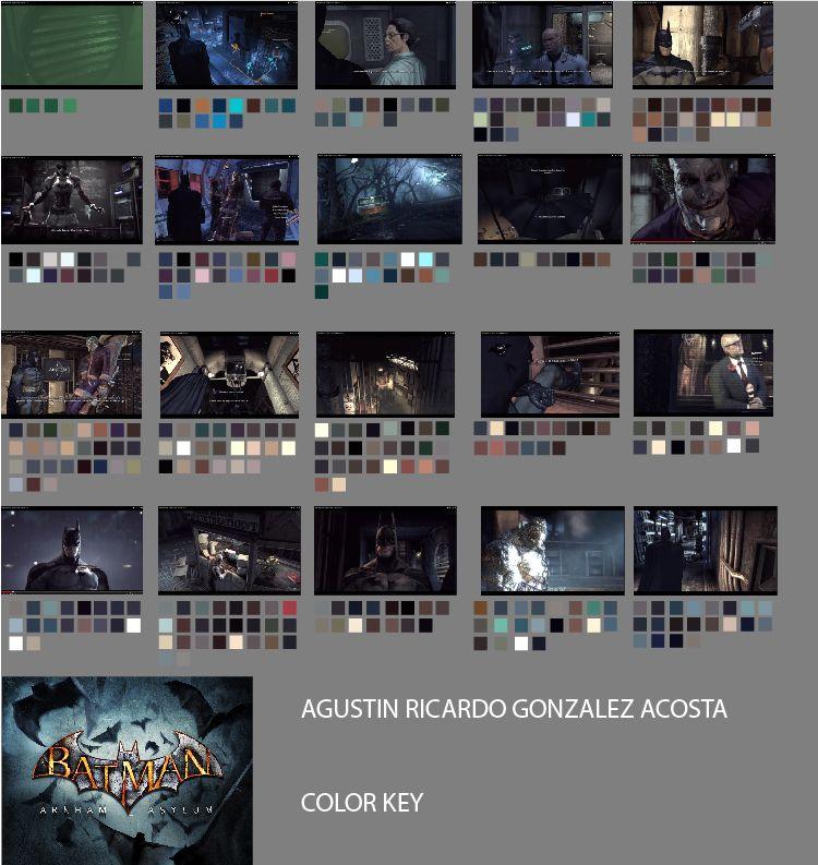 Color Key Batman Arkham Asylum Colour Scripts Pinterest - script storyboard