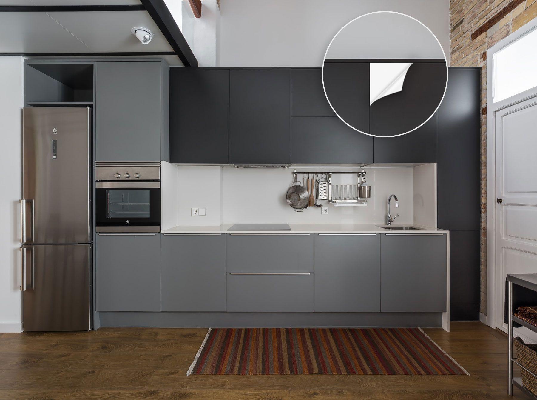 Küchen folieren statt eine neue zu kaufen, die viel Geld kostet ...