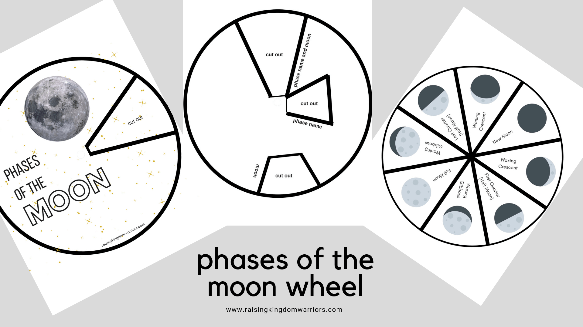 Phases Of The Moon Wheel Montessori Learning Tray Activity