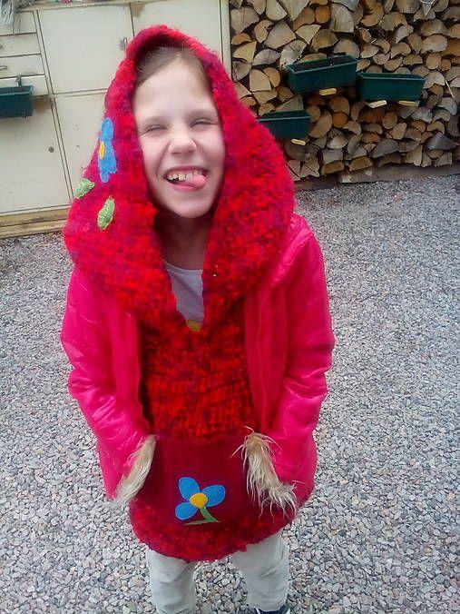 Atulu / Dětský dlouhý svetřík s kapucou