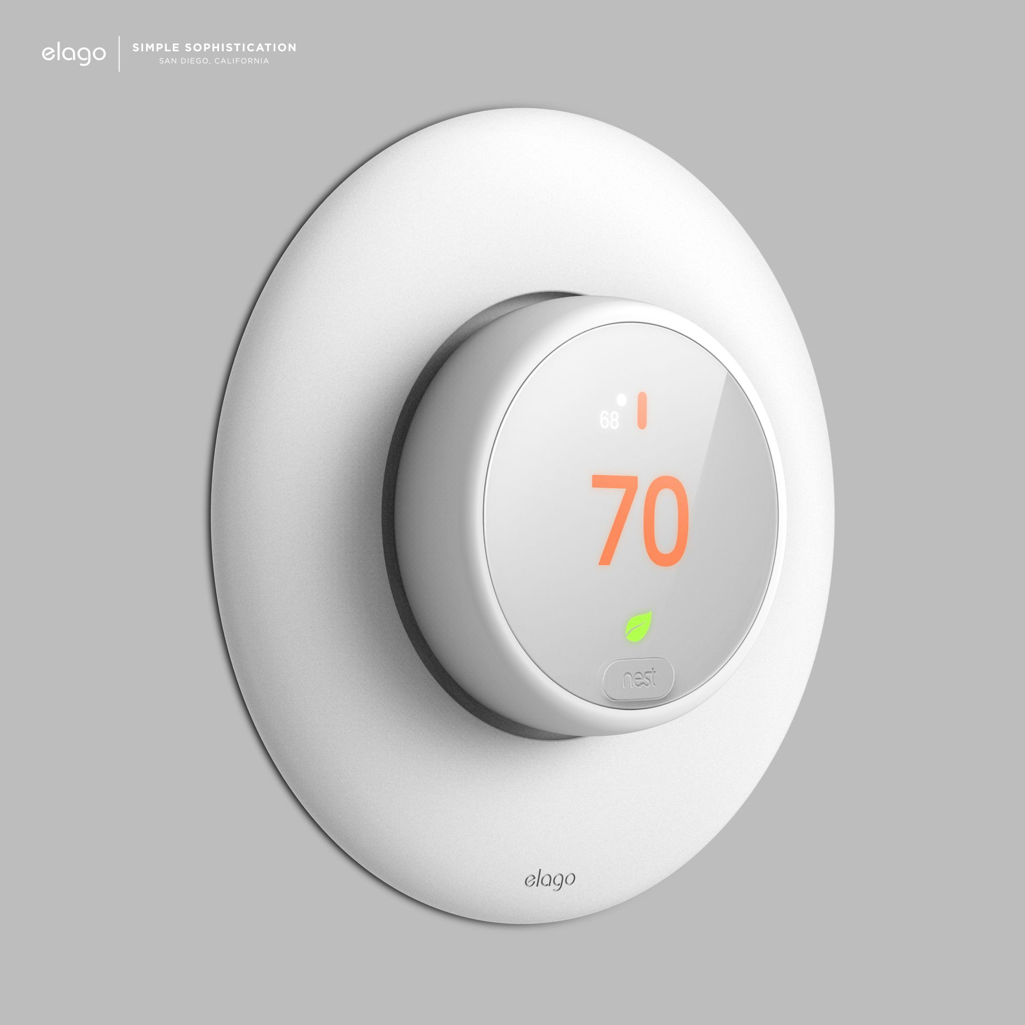 New  Elago Wall Plate Cover For Nest Learning Thermostat E