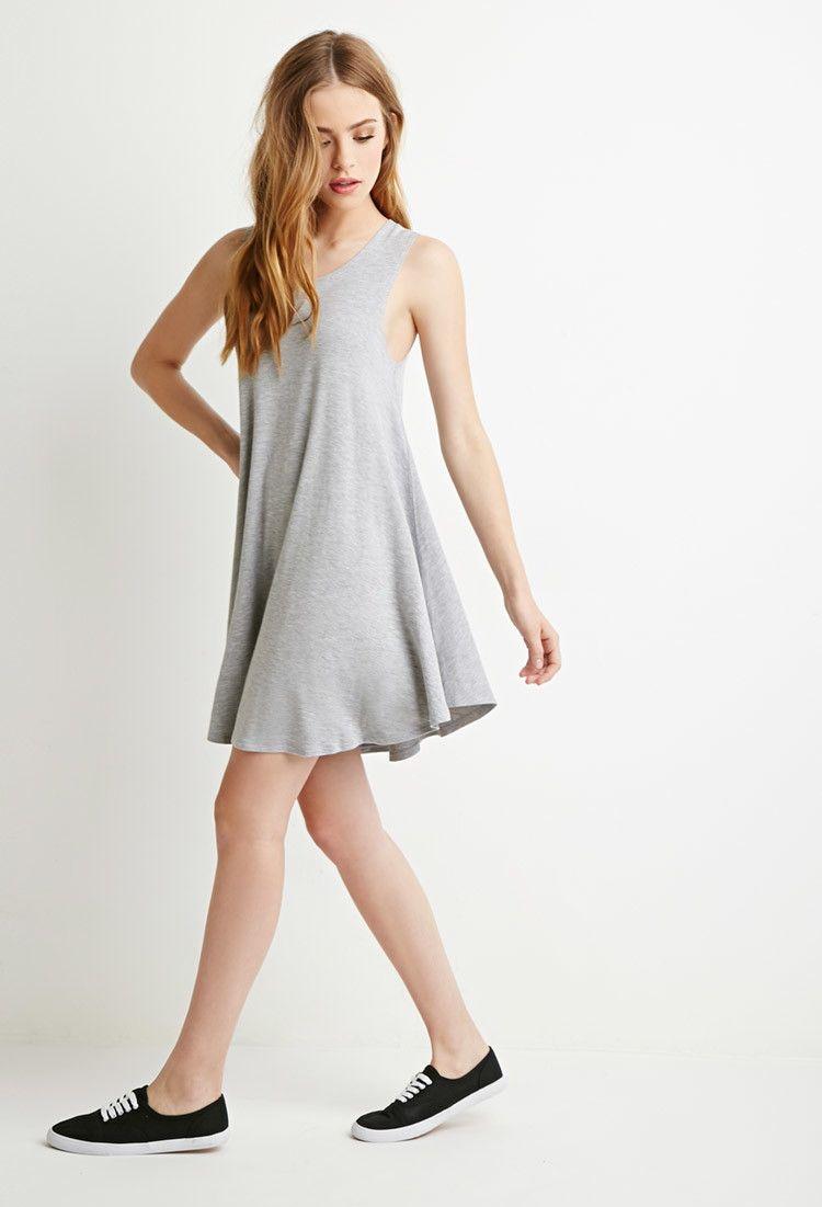 Jersey Trapeze Dress Sleeveless Swing Dress Trapeze Dress Fashion [ 1101 x 750 Pixel ]